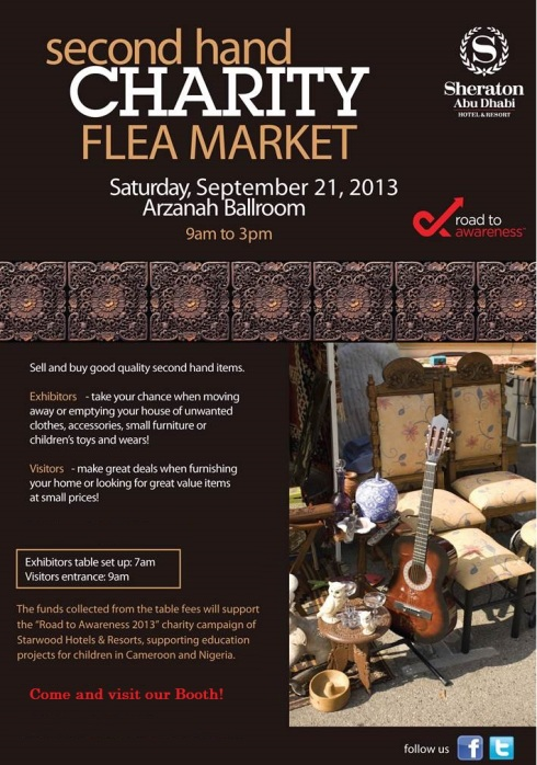 Charity Flea Market at Sheraton Hotel!